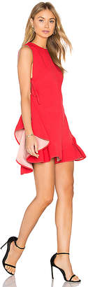 KENDALL + KYLIE Flutter Lace Up Romper in Red $228 thestylecure.com