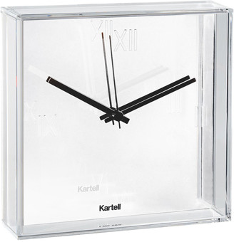Kartell White Tic And Tac Clock In White Acrylic Designed by Philippe Starck with Eugeni Quitllet in 2010 - White/Black