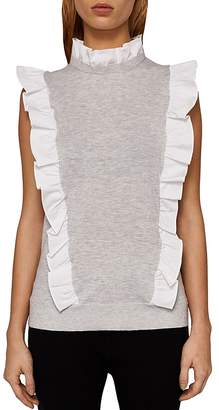 Ted Baker Gilleey Ruffle-Trimmed Knit Top