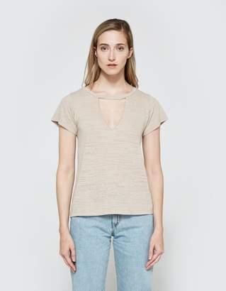LnA Short Sleeve Cut Out V