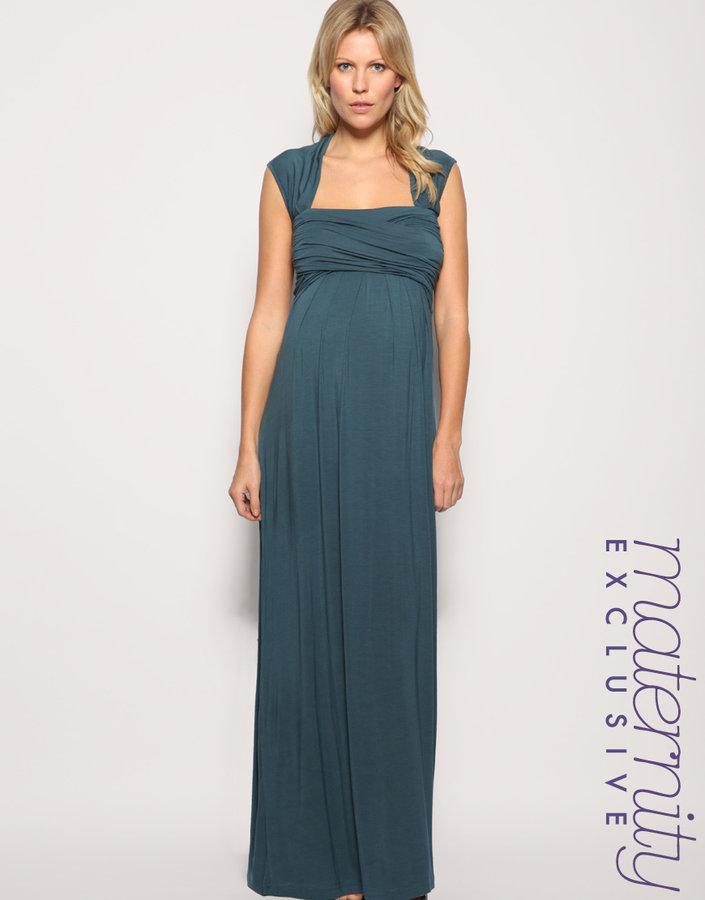 ASOS MATERNITY Exclusive Jersey Wrap Bust Maxi Dress
