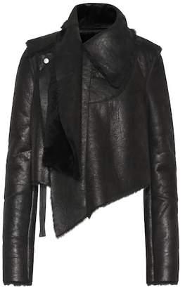Unravel Asymmetric shearling jacket