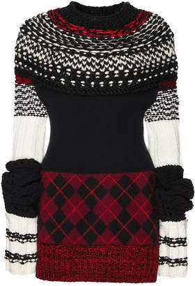 Burberry Argyle Cashmere-Wool Sweater