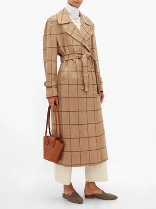 Giuliva Heritage Collection The Christie Checked Wool Trench Coat - Womens - Camel