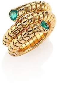 Marina B Women's Trisola Emerald & 18K Yellow Gold Coil Ring