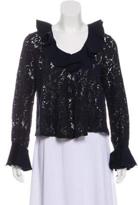 See by Chloe Ruffle-Trimmed Long Sleeve Top
