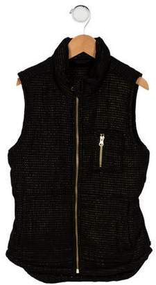 Imoga Girls' Metallic Patterned Vest