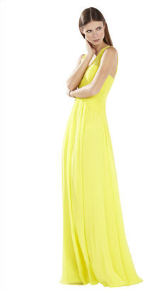 BCBGMAXAZRIA Astella Sleeveless Shirred Gown $448 thestylecure.com