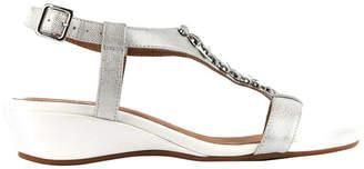 Cardin White Metallic Sandal