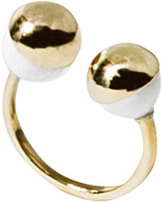 Solomeina Gold Agates Courage Ring