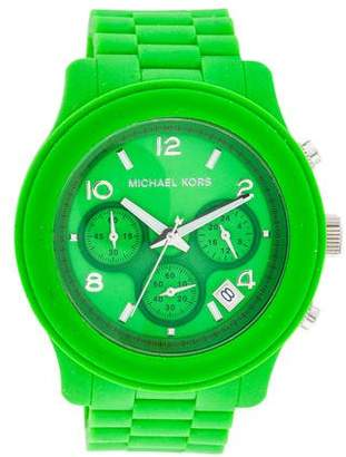 Michael Kors Chronograph Silicone Watch