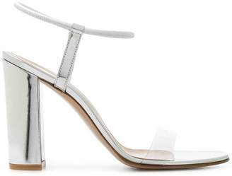Gianvito Rossi transparent strap chunky heel sandals