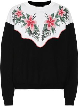 Alanui Tropical Flowers wool-blend sweater