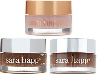 Sara Happ Ships 5/29 Set of 3 Lip Scrub & SlipGift Set