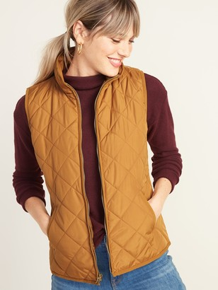 Old Navy Lightweight Diamond-Quilted Zip-Front Vest for Women