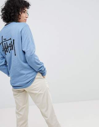 Stussy Long Sleeve Top With Logo Back