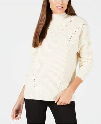 Calvin Klein Cashmere Ribbed Turtleneck Sweater
