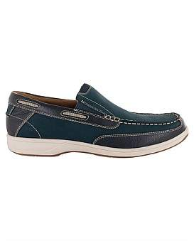 Florsheim Miami Leather Boat Shoe W/ Rubber Sole