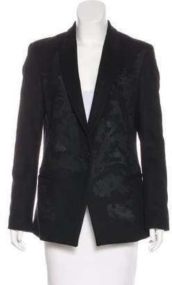 Tess Giberson Wool-Blend Button-Up Blazer