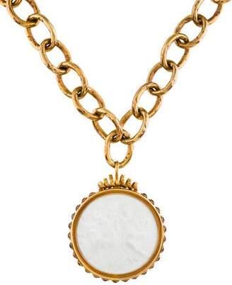 Bottega Veneta Cameo Pendant Necklace