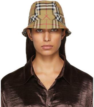 Burberry Beige Rainbow Bucket Hat
