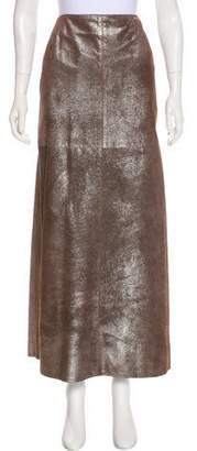 Chanel Suede Metallic Skirt