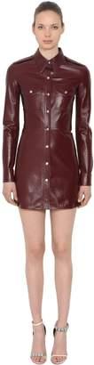 Calvin Klein Patent Leather Mini Dress