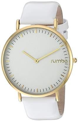 RumbaTime Women's 'SoHo Patent Leather' Quartz Metal Casual Watch
