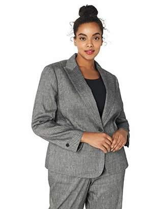Anne Klein Women's Size Plus ONE Button Peak Lapel Jacket