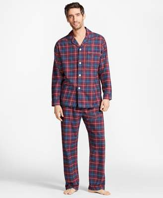 Brooks Brothers Outlined Plaid Flannel Pajamas