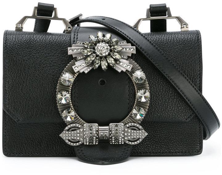 Miu MiuMiu Miu buckle detail shoulder bag