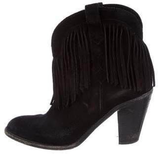 Saint Laurent Fringe Suede Booties
