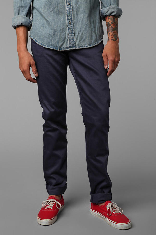 Urban Outfitters Unbranded Skinny 5-Pocket Selvedge Chino Pant