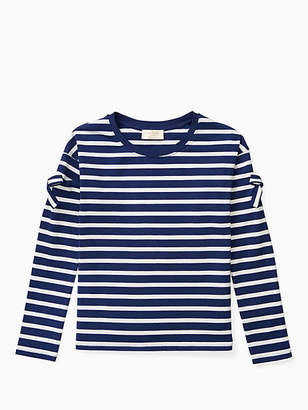 Kate Spade Girls bow cold shoulder tee