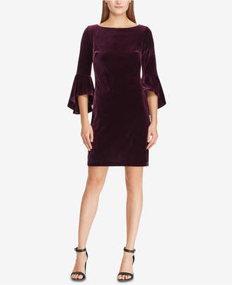 American Living Velvet Bell-Sleeve Dress