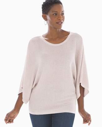 Shine Cotton Blend Kimono Sleeve Sweater Heather Blossom