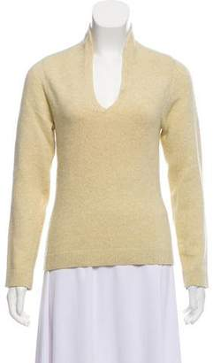 Narciso Rodriguez Cashmere/Virgin Wool-Blend V-neck Sweater