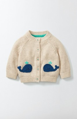 Infant Boy's Mini Boden Whale Crochet Cardigan $50 thestylecure.com