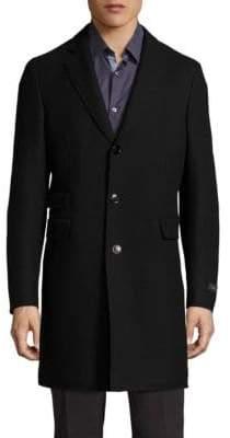 Pal Zileri Raw Edge Virgin Wool Coat
