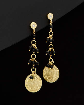Meira T 14K Diamond & Onyx Drop Earrings