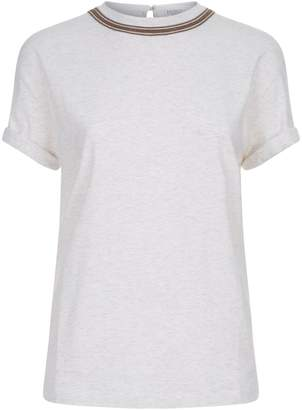 Brunello Cucinelli Monili Chain Trim T-Shirt