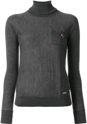 DSQUARED2 heart-embellished turtleneck knit
