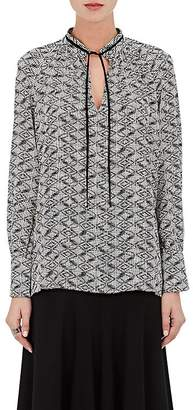 Derek Lam WOMEN'S ABSTRACT-DIAMOND-PRINT SILK TUNIC