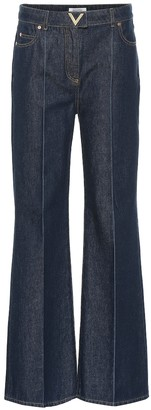 Valentino High-rise flared jeans