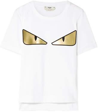 Fendi Wonders Appliquéd Cotton-jersey T-shirt - White