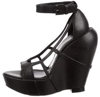 Givenchy Cutout Platform Wedges