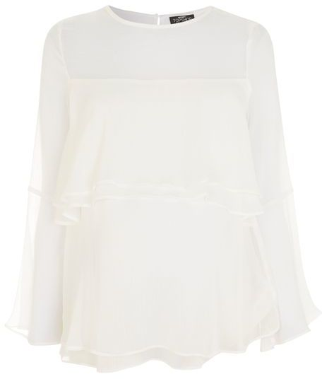 Topshop Topshop Maternity crinkle flute sleeve blouse