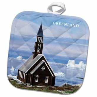 Greenland 3dRose Church In Pot Holder, 8 by 8-inch