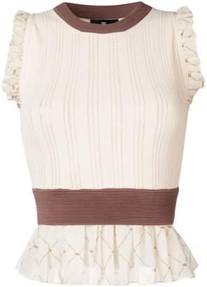 Elisabetta Franchi ruffled knit top