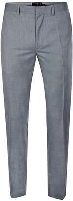 Topman Smokey Blue Crosshatch Skinny Fit Suit Trousers